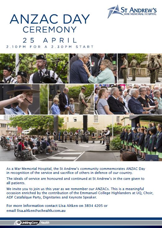 ANZAC Day invitation